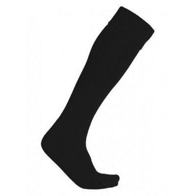Plain Black Football Socks