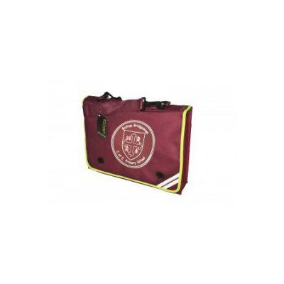 Bishop Bridgeman Book Bag With Shoulder Strap & Logo