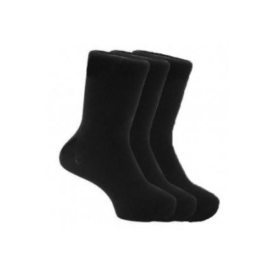 School Ankle Socks 3 Pair Pack Black
