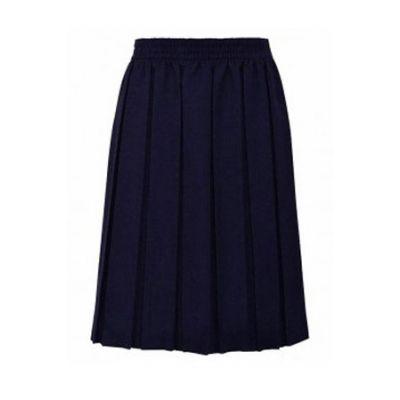 Girls Navy Blue Box Pleated Skirt