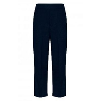 Boys Navy Pull Up Trouser