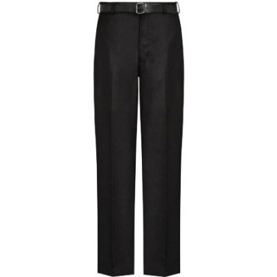Boys Black Trouser with Belt & Zip Fastening