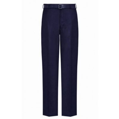 Boys Navy Blue Trouser with Belt & Zip Fastening