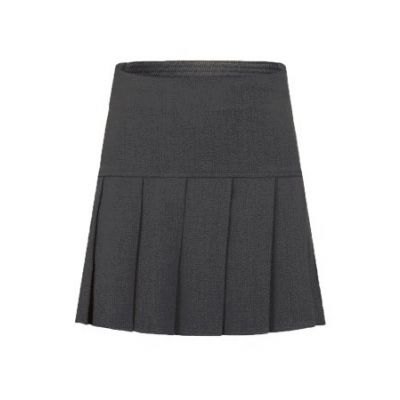 Girls Grey Drop Pleat Skirt