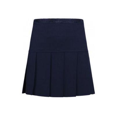 Girls Navy Blue Drop Pleat Skirt