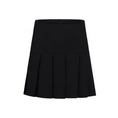 Girls Black Drop Pleat Skirt