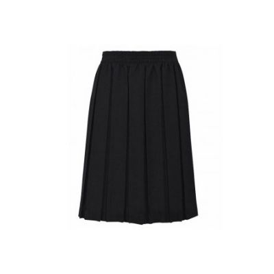 Girls Black Box Pleated Skirt