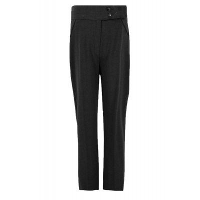 Girls Black 2 Button Trouser