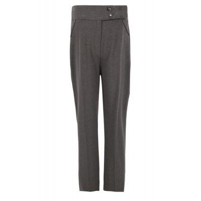 Girls Grey 2 Button Trouser