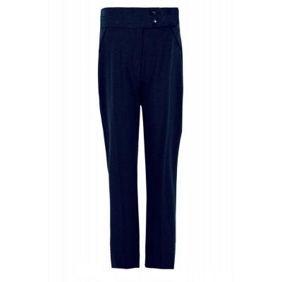 Girls navy 2 Button Trouser