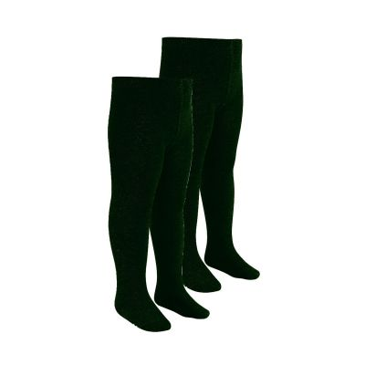 Girls Green Tights 2 Pairs