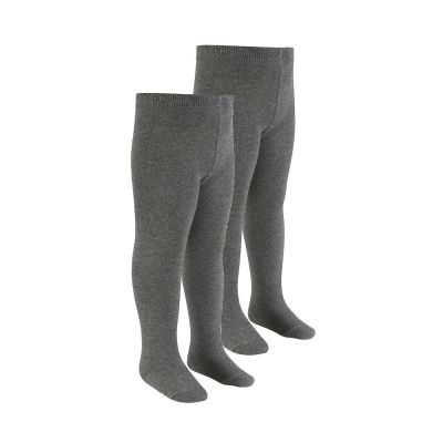 Girls Grey Tights 2 Pairs