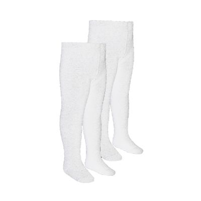 Girls White Tights 2 Pairs