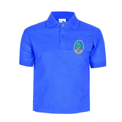 Ladywood Primary School Logo Royal Polo Shirt