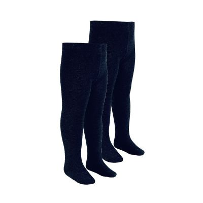 Girls Navy Tights 2 Pairs