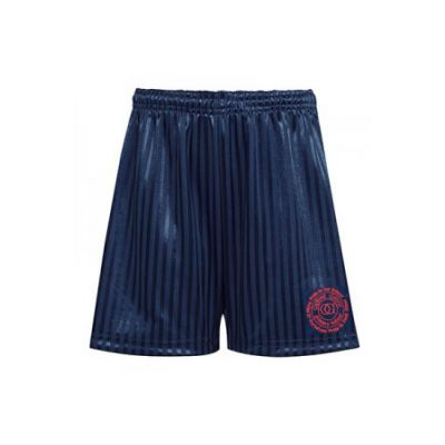 Navy Sports Shorts with Logo