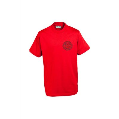 Oxford Grove PE Logo Red T-Shirt