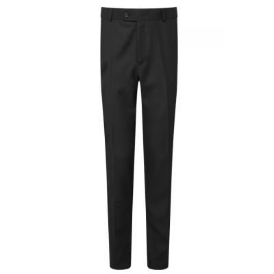 Boy's Black Waist Size Slim Fit School Trousers