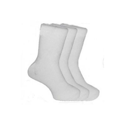 School Ankle Socks 3 Pair Pack White