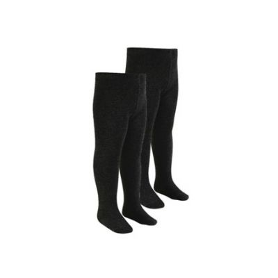 Girls Black Tights 2 Pairs