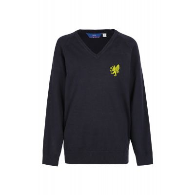 Turton High School V Neck Jumper With Logo
