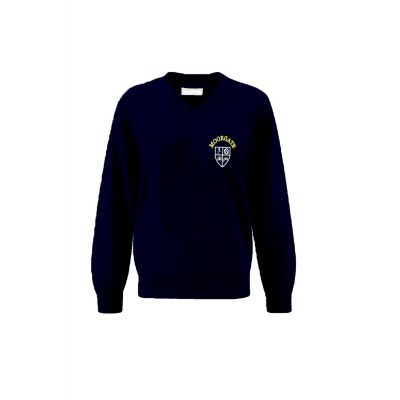 Moorgate Primary School V Neck Sweatshirt With Logo