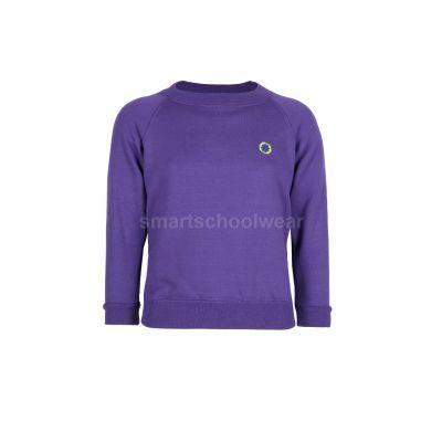 Olive School Sweatshirt With Logo
