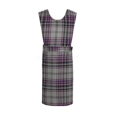 Olive School Girls Tartan Pinafore With Logo