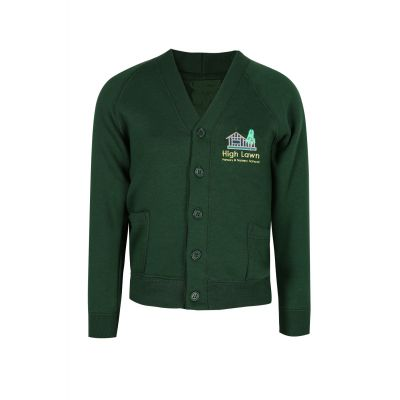 High Lawn Cardigan With Logo