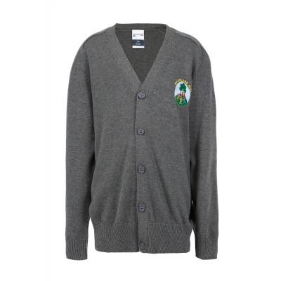 Markland Hill Logo Grey Cardigan