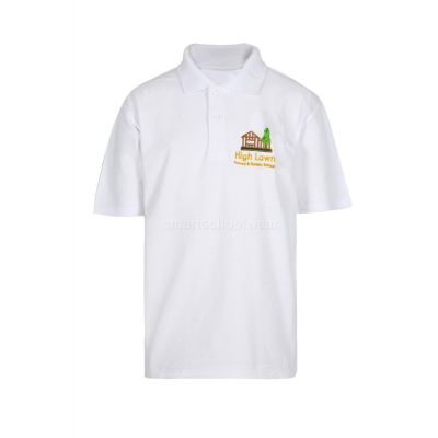High Lawn Polo Shirt With Logo